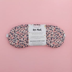 Pink Leopard eye mask