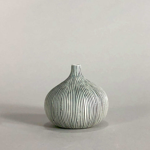 gray grey porcelain glaze stripe handmade handcrafted vase geometric display scma smith college museum of art