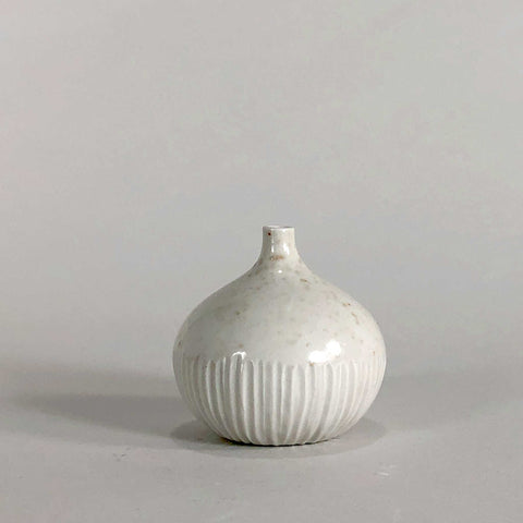 Carved White Bud Vase