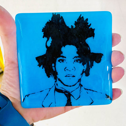 Jean-Michel Basquiat Glass Coaster