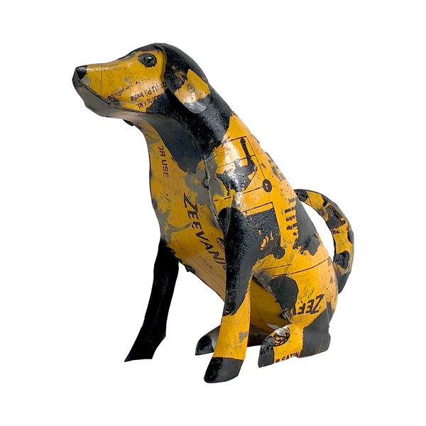 Spotted Dog of Up-cycled Metal