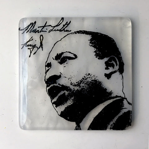 Dr. Martin Luther King Glass Coaster