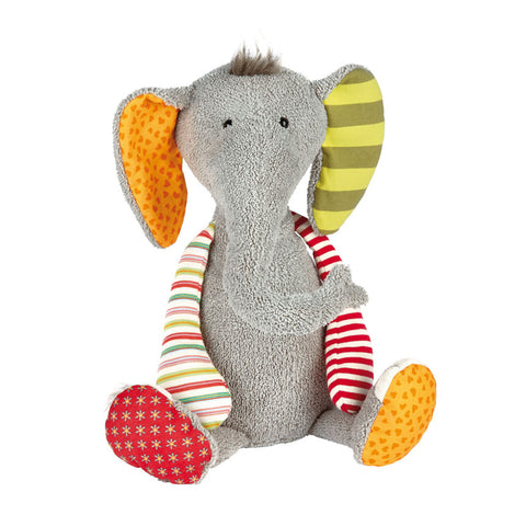 patchwork stuffed animal children children's infant baby toy soft scma smith college museum of art elephant