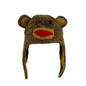Striped Monkey Childs Hat