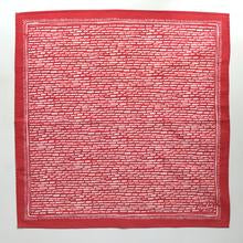 Beth Snyder handmade red white bandana scarf kerchief geometric line lines cotton scma Smith College Museum of Art