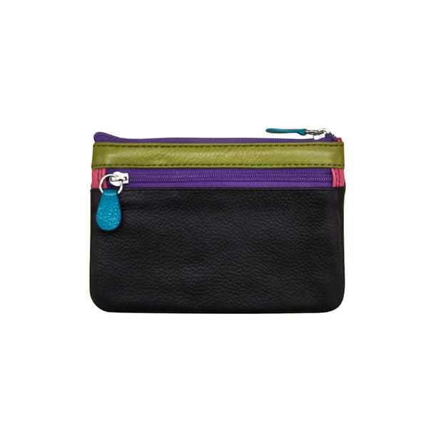 leather coin purse zipper colorful stripes green pink orange purple black wallet scma smith college art museum