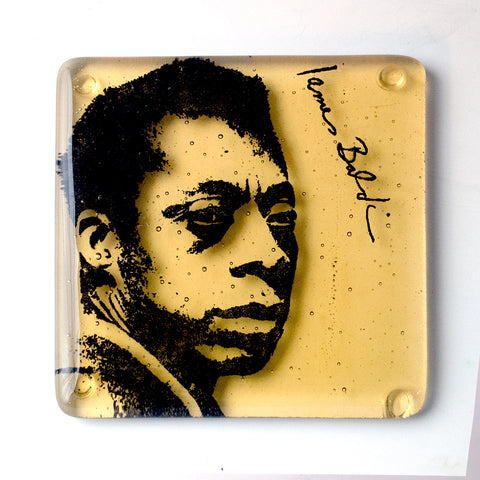 James Baldwin Glass Coaster