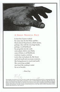 Poetry Center Smith College broadside poem hand print Ross Gay Barry Moser Eric Garner
