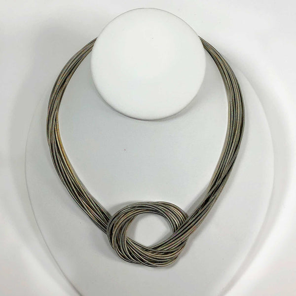 piano wire necklace magnetic clasp closure gold black scma smith college museum of art