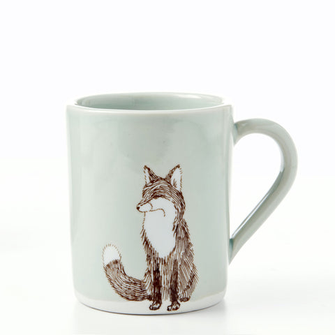 Large Celadon Fox Mug