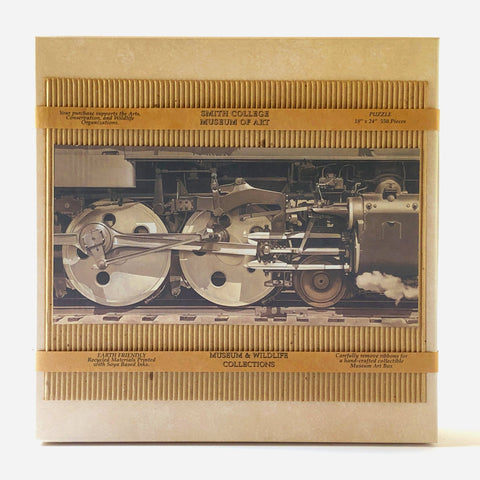 Puzzle, games, home puzzle, SCMA Smith College Museum of Art, Smith College, trains, locomotive, Rolling Power, Charles Sheeler, 1939, Soya Ink recycled collectable