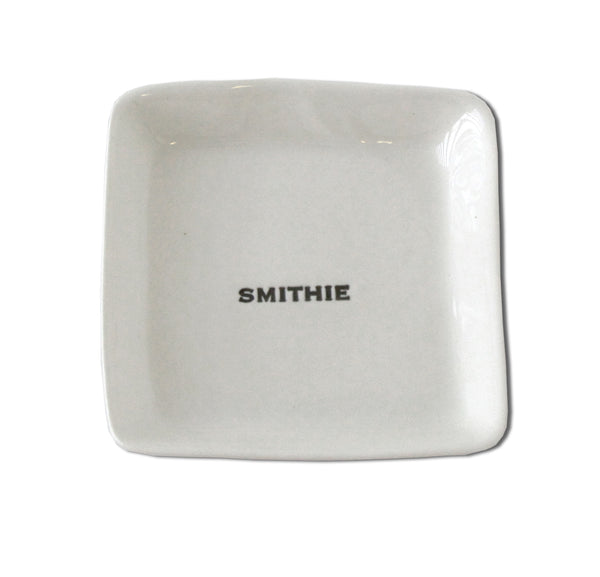 white porcelain dish smithie alum alumni alumnae jewelry tray handmade hand made scma smith college museum of art