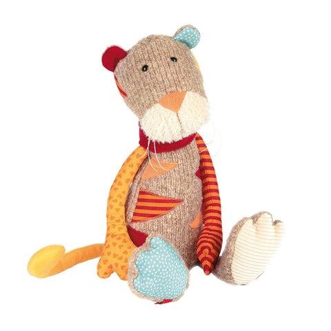 patchwork stuffed animal children children's infant baby toy soft scma smith college museum of art tiger