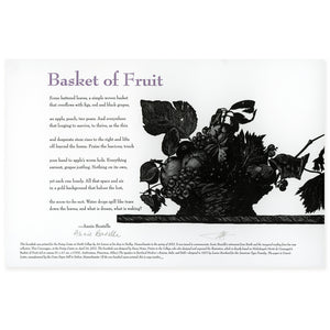 Annie Boutelle Bary Moser Michelangelo Merisi da Caravaggio fruit basket broadside poem Poetry Center Smith College Museum of Art SCMA print
