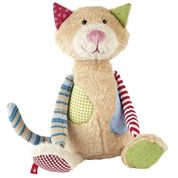 patchwork stuffed animal children children's infant baby toy soft scma smith college museum of art cat kitten