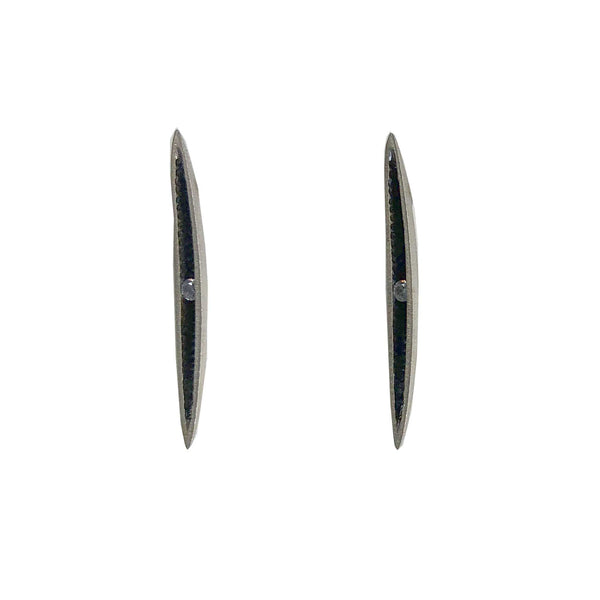 earring earrings petal Poland Polish sterling silver black line bar post scma smith college museum of art