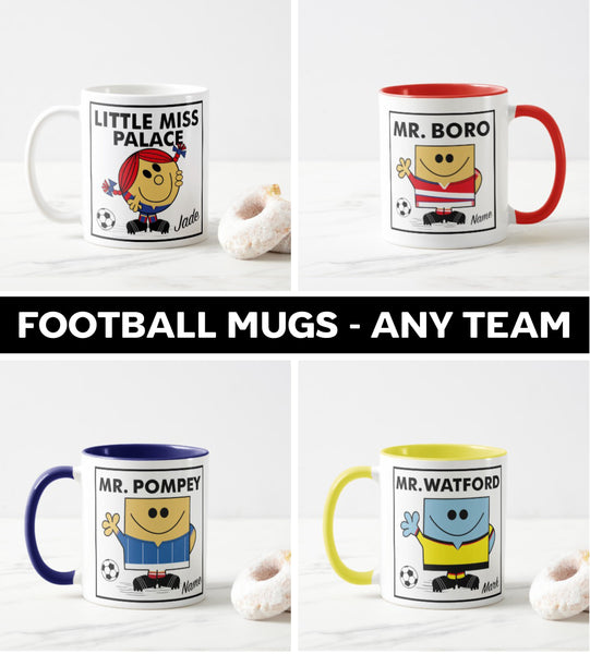 Mr Men Personalised Mugs (Any Team)