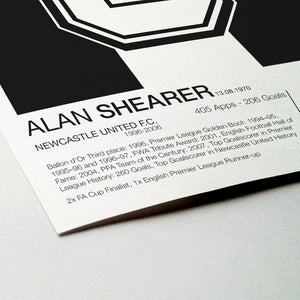 Alan Shearer - #9 - Newcastle United F.C. - Poster Print