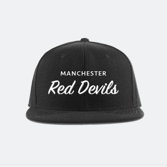 Manchester United FC Snapback Hat - Red Devils - Premier League soccer football snapback hat