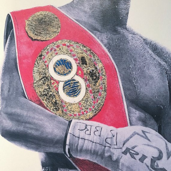Anthony Joshua hand signed artwork print (wet ink)