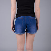 Square Short Denim Blue
