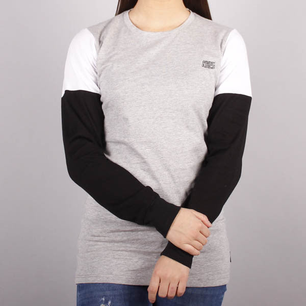 Blizzard L/S T-Shirt, Heather Grey/Black/White