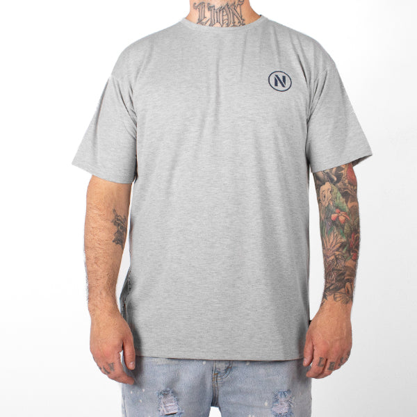 Stencil T-Shirt, Heather Grey
