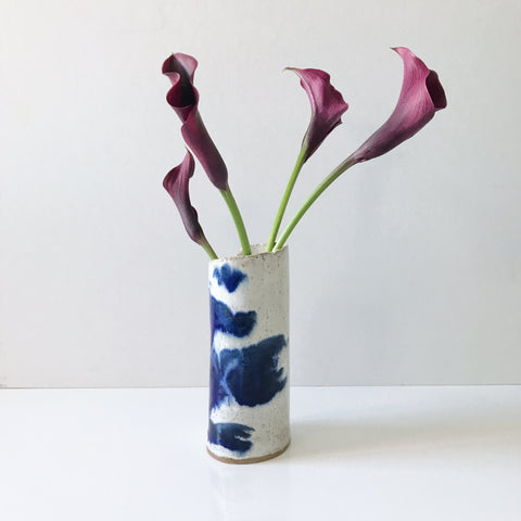 Small Watercolor Vase, Blue Lapis