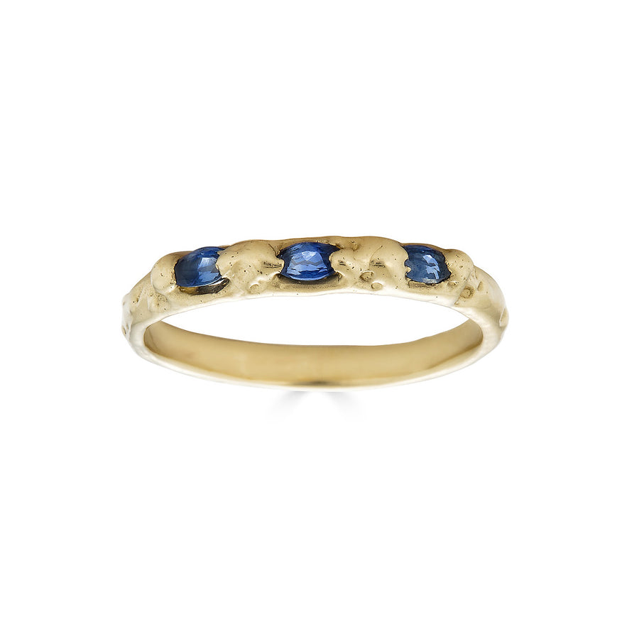 Marquise Sapphire Trio Ring