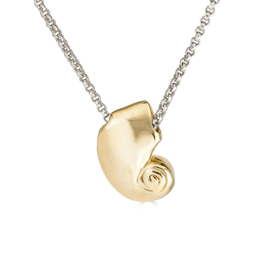 Nautilus Necklace, Brass