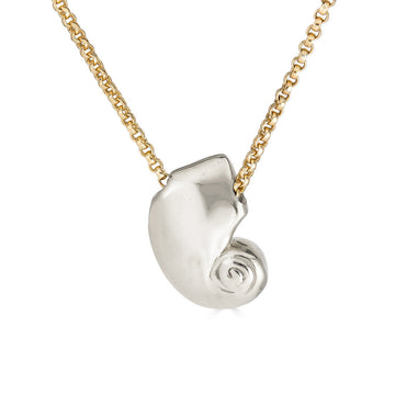 Nautilus Necklace, Silver