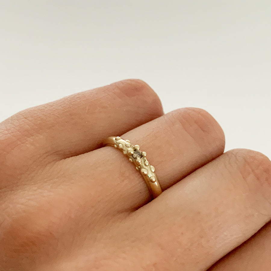 Champagne Diamond Ring, 14k
