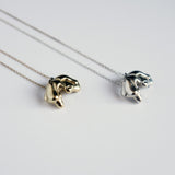 Molten Drip Necklace, Silver or Plated