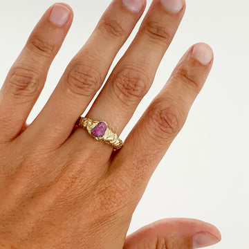 Rough Ruby Ring