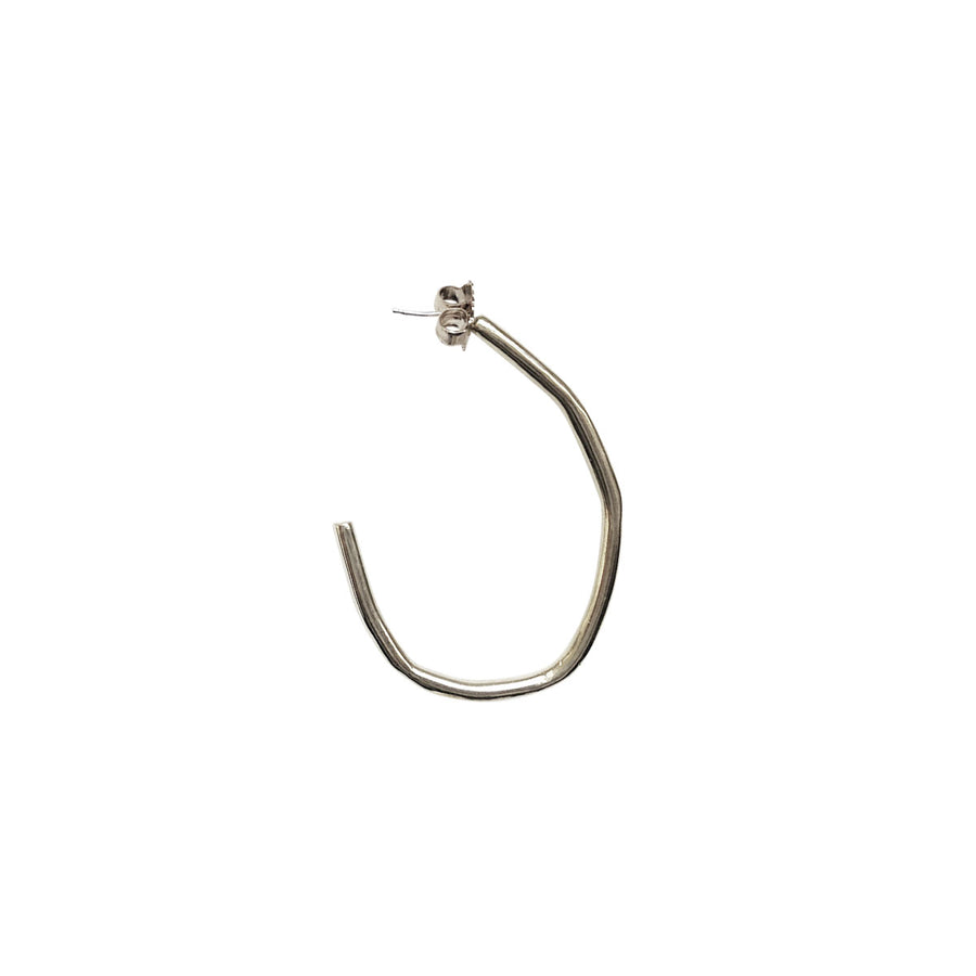 Rugged Large Hoops, Silver