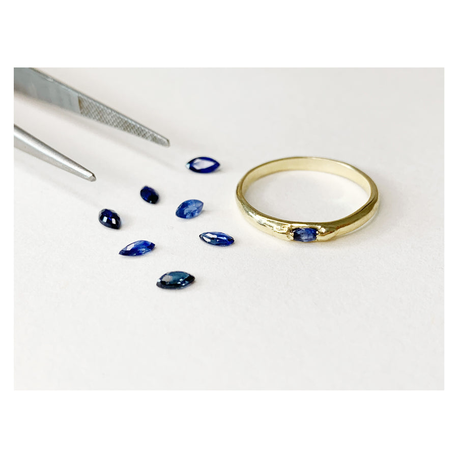 Sapphire Stacking Ring, 14k