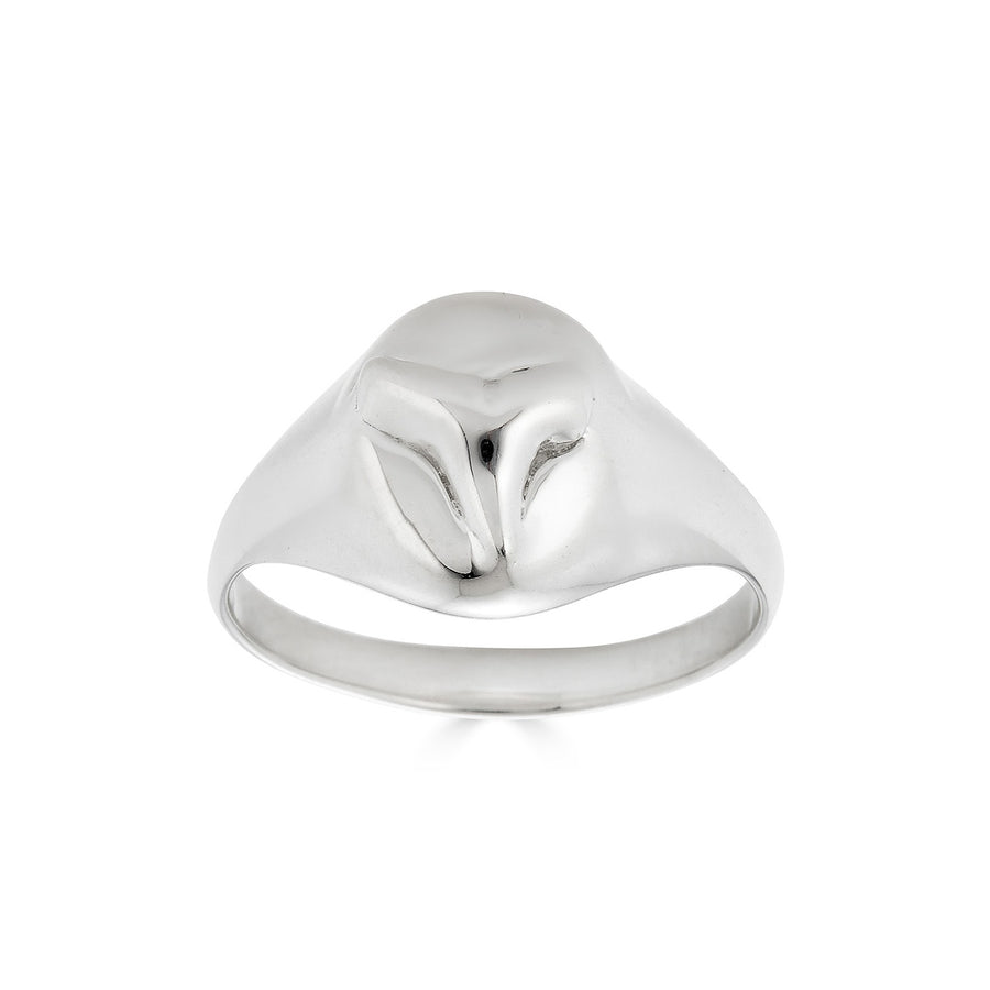 Tooth Signet Ring, Silver