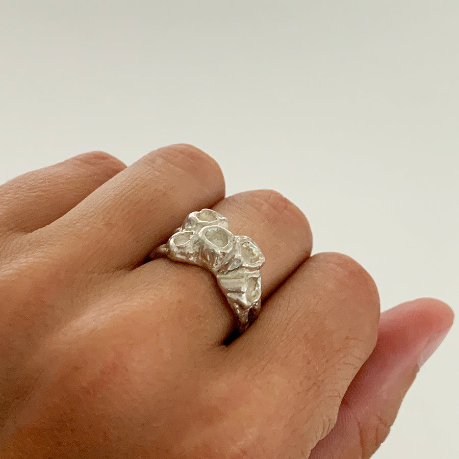 Barnacle Ring, Silver