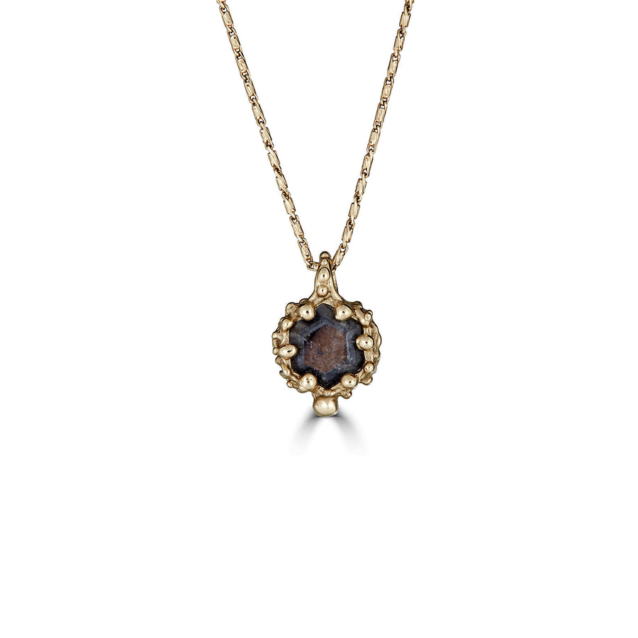 Diamond Hexagon Necklace, 14k