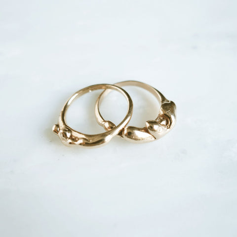 Large Drip Ring, Gold