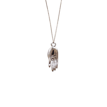 Meditation Necklace, Silver