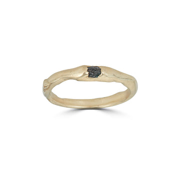 Molten Diamond Ring, 14k
