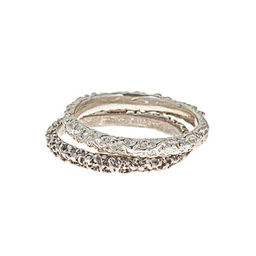 Stacking Moon Ring, Silver
