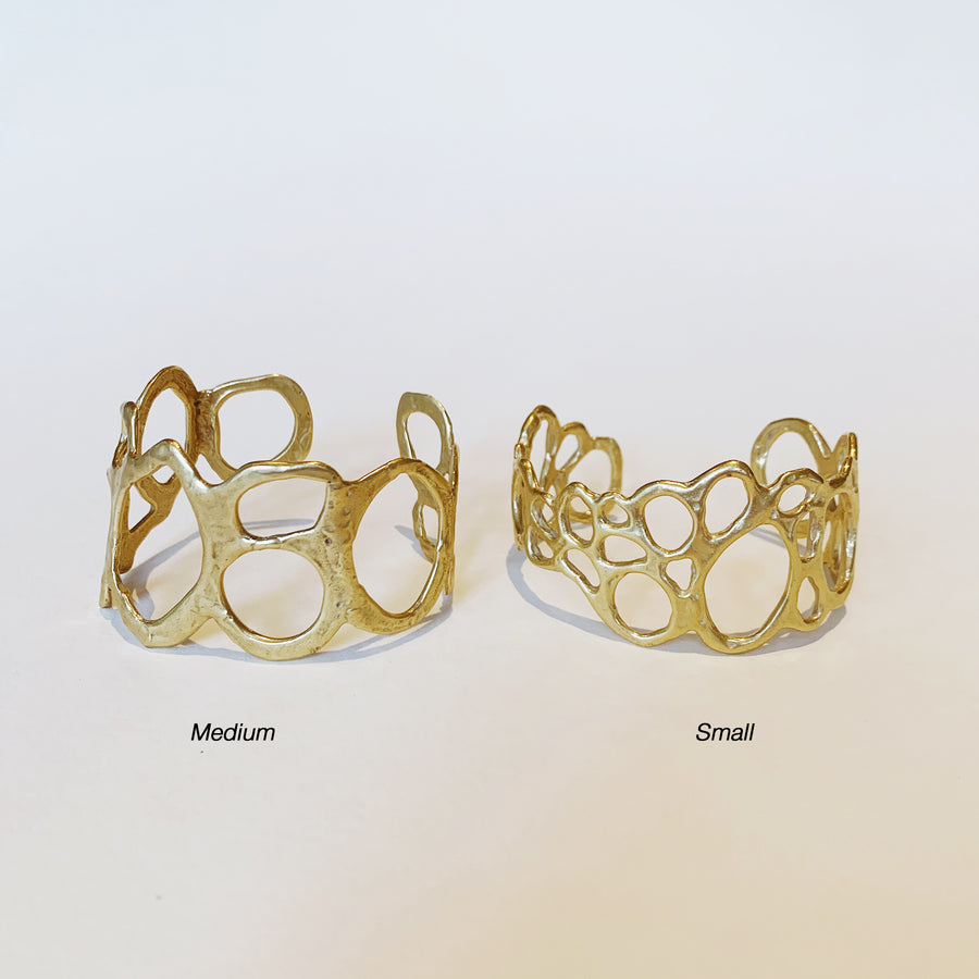 Morel Wide Cuff, Brass