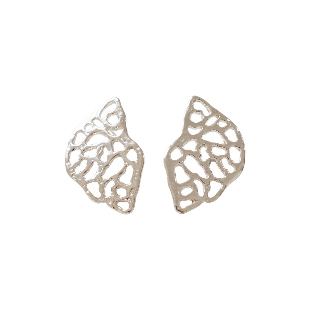 Morel Earrings, Silver
