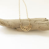 Morel Mini Necklace, 14k