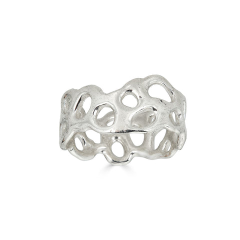 Morel Ring, Silver or Plated