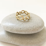 Morel Thin Ring, Silver