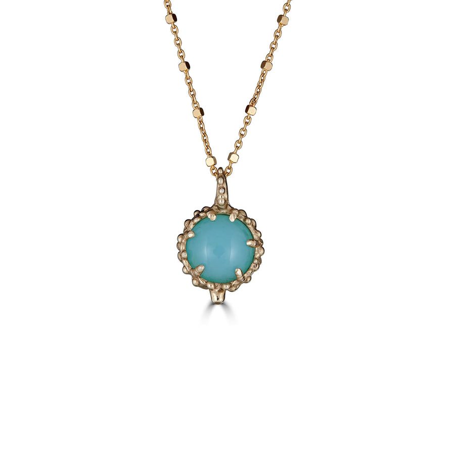 Peruvian Opal Necklace, 14k