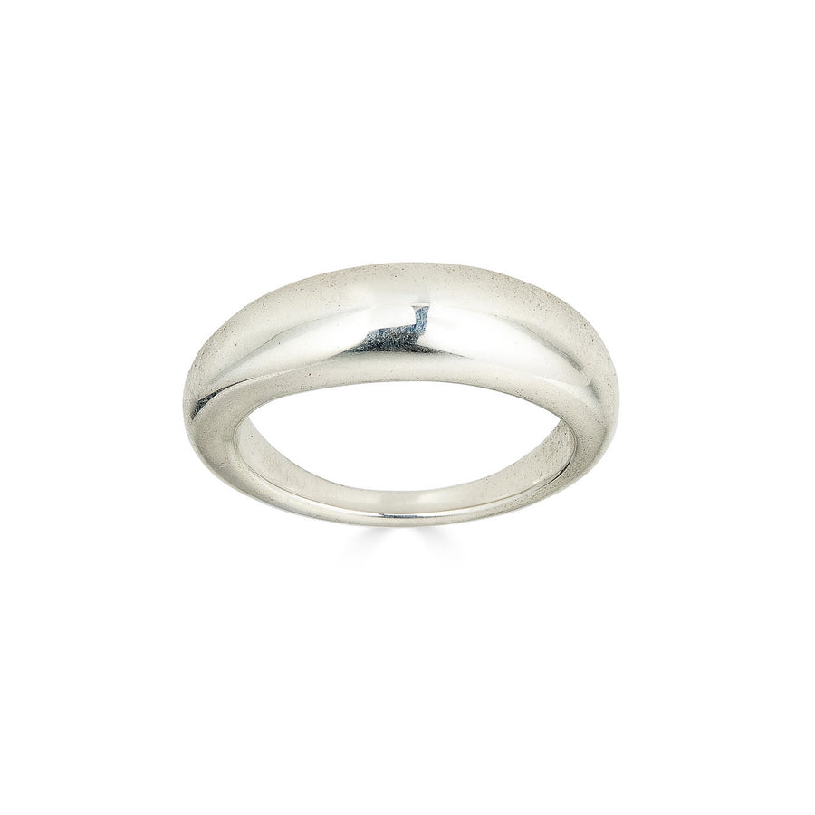 Organic Orb Ring, Silver
